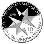 10 euro coin Malta's Presidency of the European Council of the EU | Malta 2017