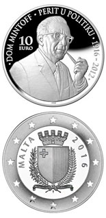 10 euro coin 100th Anniversary of the birth of Dom Mintoff  | Malta 2016
