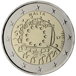 2 euro coin The 30th anniversary of the EU flag | Malta 2015