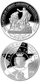 10 euro coin Baptism of Christ | Malta 2018