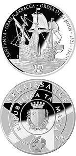 10 euro coin The Gran Carracca of the Order of St John | Malta 2019