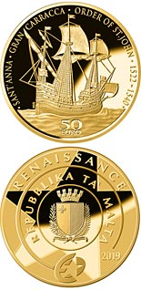 50 euro coin The Gran Carracca of the Order of St John | Malta 2019