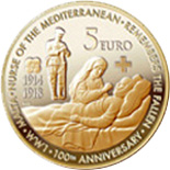 5 euro coin 100th Anniversary End of World War I | Malta 2018