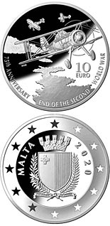 10 euro coin 75th Anniversary of the end of