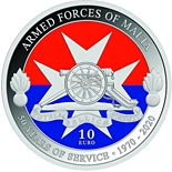 10 euro coin 50th Anniversary of the Armed Forces of Malta | Malta 2020