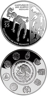 5 peso coin The Olympic Games - Olympic Gold Disciplines | Mexico 2008