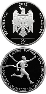 50 leu coin The 2012 Summer Olympic Games | Moldova 2012