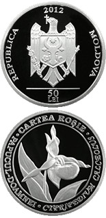 50 leu coin Lady's slipper orchid | Moldova 2012