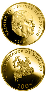 100 euro coin 80th birthday of Prince Rainier III.  | Monaco 2003