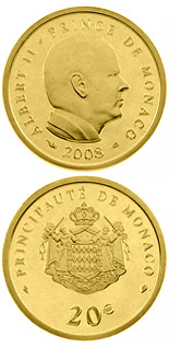 20 euro 50th birthday of Prince Albert II.  - 2008 - Series: Gold euro coins - Monaco