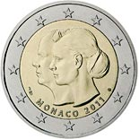 2 euro coin The wedding of Prince Albert and Charlene Wittstock  | Monaco 2011