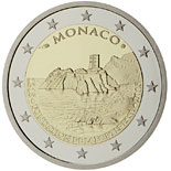2 euro coin 800th Anniversary of the Construction of the first Fortress on the Rock 1215 | Monaco 2015