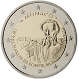2 euro coin The 150th anniversary of the foundation of Monte Carlo by Charles III  | Monaco 2016
