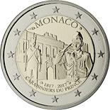 2 euro coin Carabiniers of the Prince | Monaco 2017