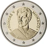 2 euro coin 200th Anniversary of the Accession to the Throne Prince Honoré V. | Monaco 2019