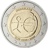 2 euro coin 10th Anniversary of the Introduction of the Euro | Netherlands 2009