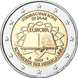 2 euro coin 50th Anniversary of the Treaty of Rome | Netherlands 2007