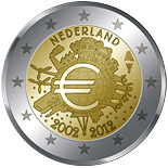 2 euro coin Ten years of Euro  | Netherlands 2012