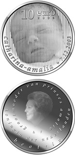 10 euro Birth of Princess Catharina Amalia  - 2003 - Netherlands