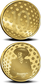 10 euro coin 60 years Peace and Freedom  | Netherlands 2005
