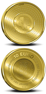 10 euro coin 200 years Dutch Financial Office  | Netherlands 2006