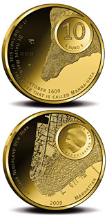 10 euro coin Manhattan 400 Years | Netherlands 2009