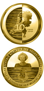 10 euro Nederland Waterland - 2010 - Series: Gold 10 euro coins - Netherlands