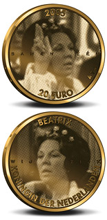 20 euro coin 25. Anniversary of the accession to the throne by Queen Beatrix  | Netherlands 2005