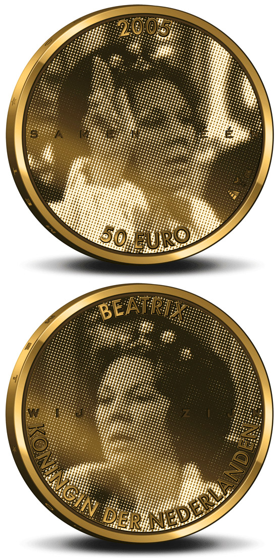 50 euro 25. Anniversary of the accession to the throne by Queen Beatrix  - 2005 - Netherlands