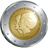 2 euro coin The Double Portrait | Netherlands 2013