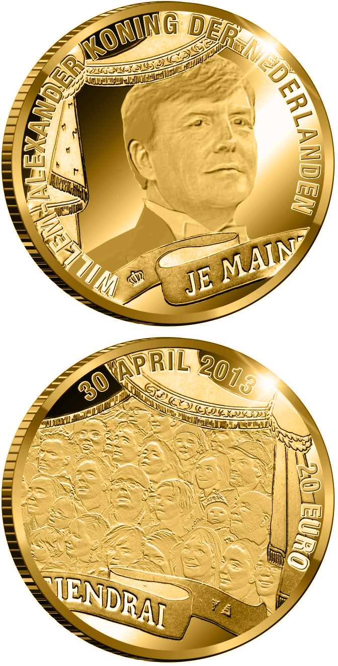 10 euro King William-Alexander - 2013 - Series: Gold 10 euro coins - Netherlands