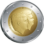 2 euro coin The Double Portrait 2014 | Netherlands 2014