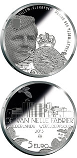 5 euro Van-Nelle-Fabrik - 2015 - Series: Silver 5 euro coins - Netherlands