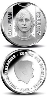 5 euro Sports Icons: Johan Cruyff - 2017 - Series: Silver 5 euro coins - Netherlands