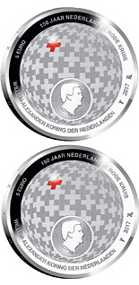 5 euro coin Dutch Red Cross 150 Years | Netherlands 2017