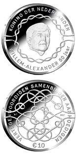 10 euro coin King Willem-Alexander 50 Years | Netherlands 2017
