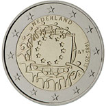 2 euro coin The 30th anniversary of the EU flag | Netherlands 2015