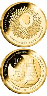 10 euro coin 100th Anniversary of the University of Wageningen | Netherlands 2018