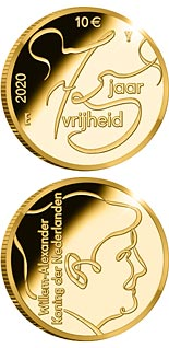 10 euro coin 75 Years of Freedom | Netherlands 2020