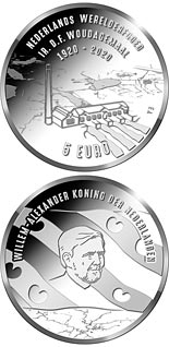5 euro coin 100th anniversary of the Ir. D.F. Woudagemaal | Netherlands 2020