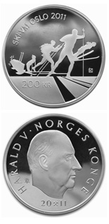 200 krone coin Skiing in Norway / FIS World Ski Championships in Oslo 2011  | Norway 2011