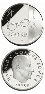 200 krone coin 200th anniversary of Henrik Wergeland's birth  | Norway 2008