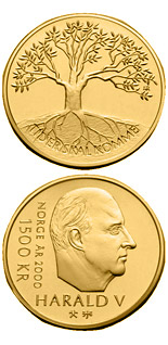 1500 krone coin Millennium | Norway 2000