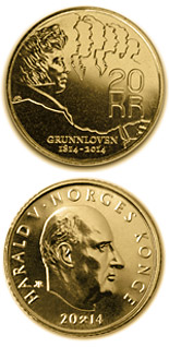 20 krone coin Bicentenary of the Norwegian Constitution 2014 | Norway 2014
