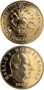 20 krone coin 150th anniversary of the Norwegian Trekking Association | Norway 2018