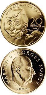 20 krone coin Anne Cath Vestly | Norway 2020
