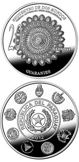 1 guaraní coin 20th Anniversary of the Ibero-American Series | Paraguay 2012