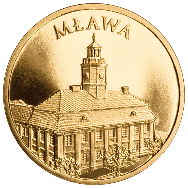 Image of 2 zloty coin - Mława | Poland 2011.  The Nordic gold (CuZnAl) coin is of UNC quality.