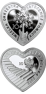 10 zloty coin 20 Years of The Great Orchestra of Christmas Charity  | Poland 2012
