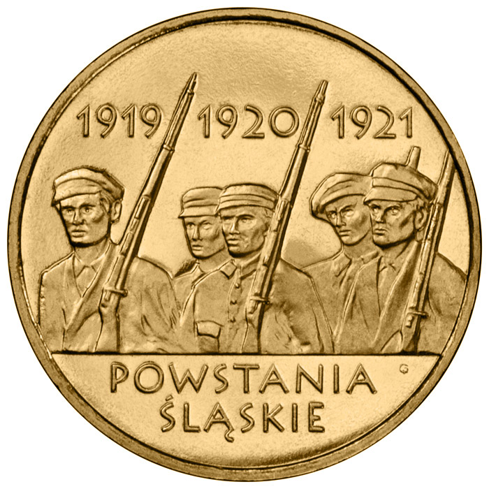 Image of 2 zloty coin – Silesian Uprisings  | Poland 2011.  The Nordic gold (CuZnAl) coin is of UNC quality.